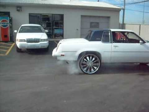 cutlass burning out on 24s Music Videos