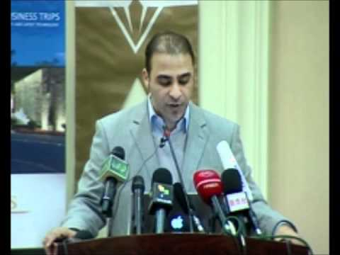 Dr Moussa Ibrahim welcoming the press 28.2.2011