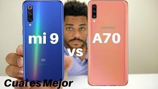 Samsung Galaxy A70 vs Xiaomi Mi 9 SE  Cual es Mejor