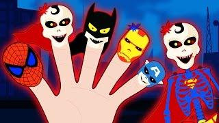 Skeleton Superhero Finger Family by HooplaKidz Toons