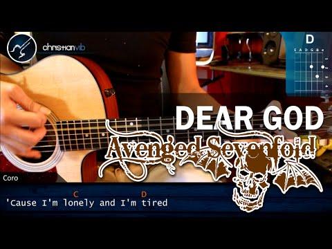 Como tocar Dear God AVENGED SEVENFOLD en Guitarra Acustica HD Tutorial ACORDES