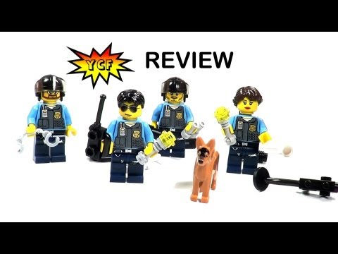 LEGO CITY Policemen Pack 850617 Review - 2013 Battle Pack with 4 Minifigures and accessories