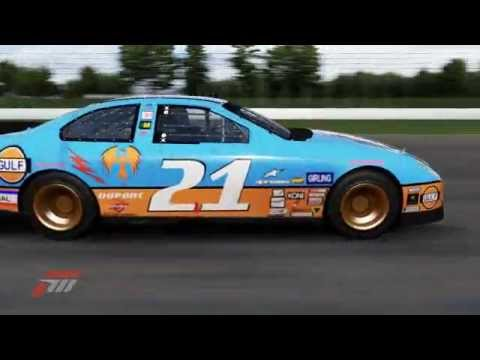 Gulf Oil #21 2011 Ford Racing Fusion Stock Car at Indianapolis Motor Speedway - Forza Motorsport 4