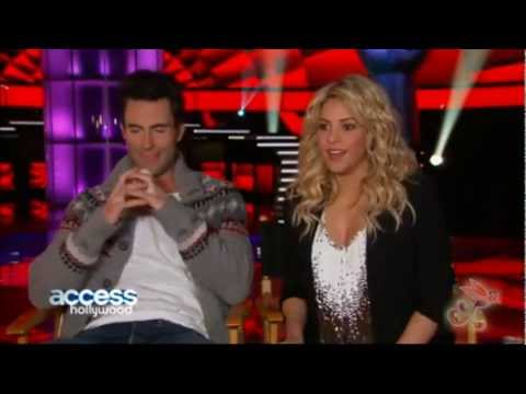 "Shakira y Adam Levine ""The Voice"" 1/2"