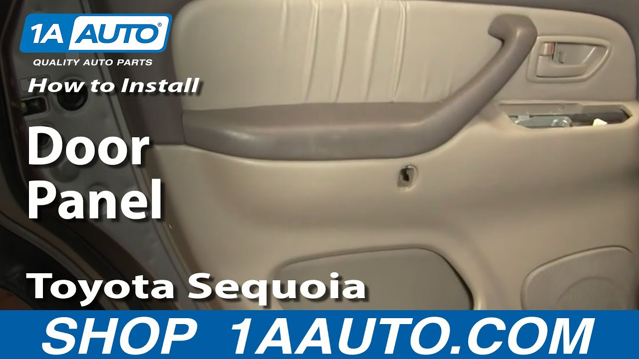How To Install Replace Remove Rear Door Panel Toyota