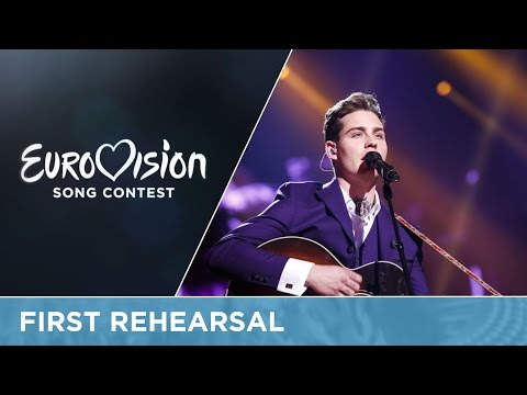 Douwe Bob - Slow Down (The Netherlands) First Rehearsal