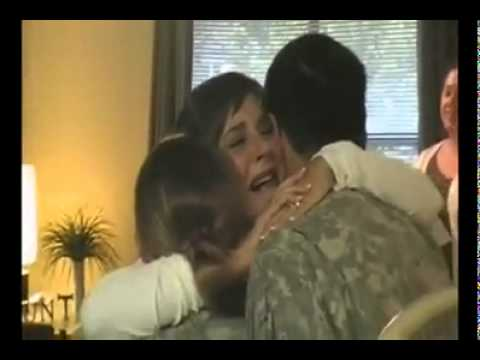 Troops surprising loved ones.