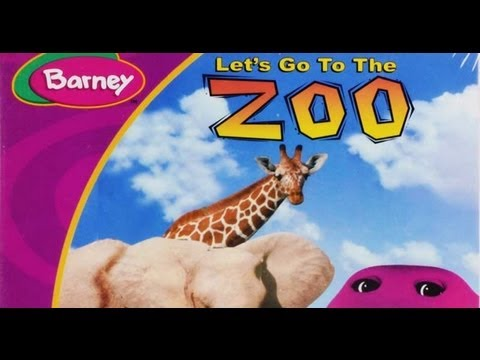 Barney Let's Go To The Zoo video