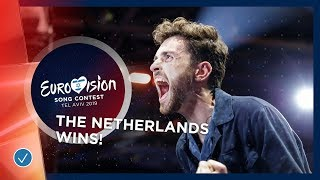 Duncan Laurence from The Netherlands wins the 2019 Eurovision Song Contest