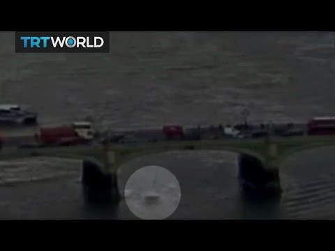 Video shows the moment the London attack begins, woman seen falling into the Thames