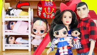 LOL Surprise Fanime Family ! New Bunk Beds in Dolls Doll house