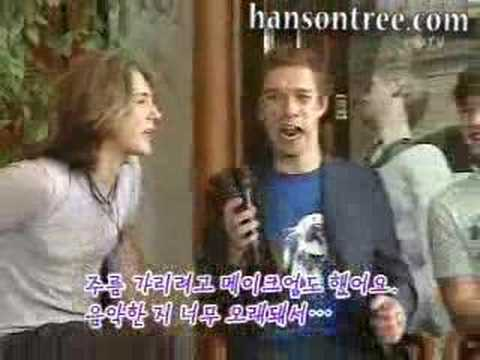 Hanson on Korean television show