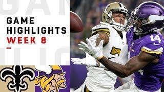 Saints vs. Vikings Week 8 Highlights | NFL 2018
