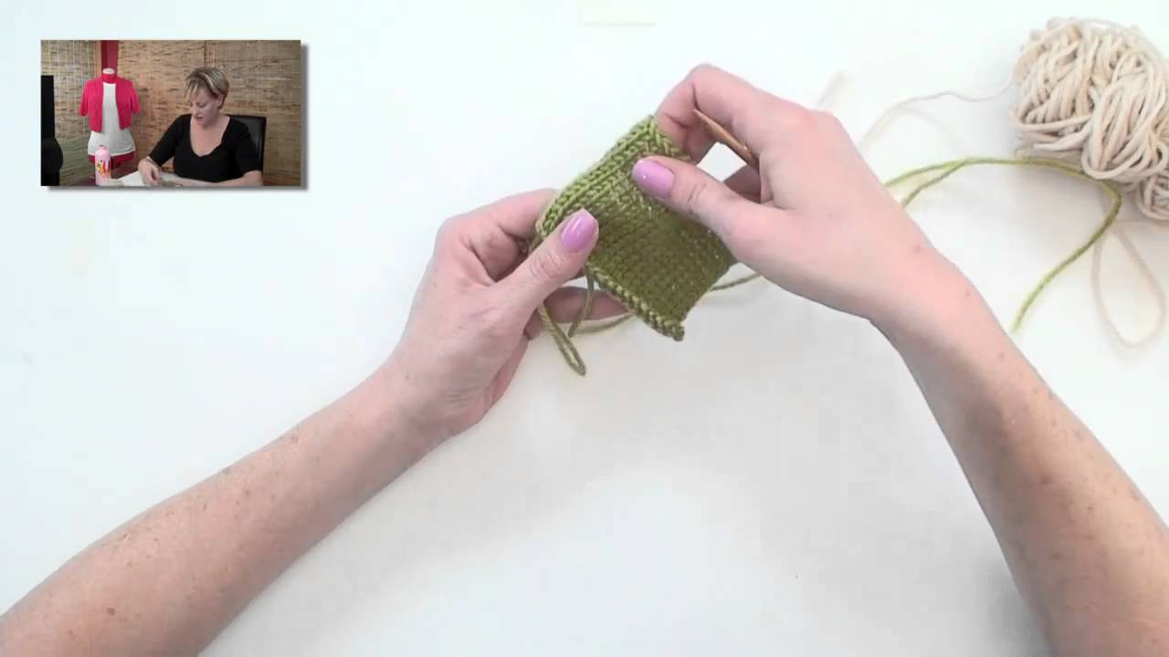 Knitting And Picking Up Stitches : Knitting Help - Pick Up and Knit - YouTube