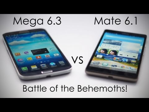 Samsung Galaxy Mega 6.3 vs Huawei Ascend Mate 6.1 Comparison - Battle of the Behemoths!