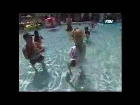 pamela anderson in pool