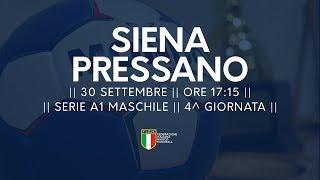 Serie A1M [4^ giornata]: Siena - Pressano 30-30