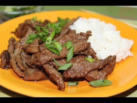 Бульгоги из говядины. Корейская кухня.