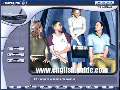 تعليم اللغة الانجليزية محادثة الطائرة Learn English