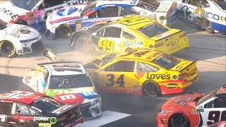Nascar - Bristol - 2018 - Crash Compilation