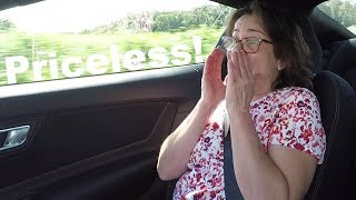 Mom's Reaction to my 2019 Ford Mustang GT!