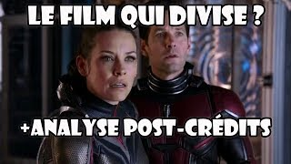 Ant-Man et la Guêpe critique sans/avec spoiler, indices sur Avengers 4 ?