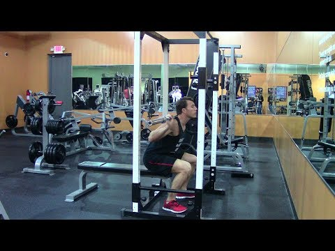 Max Effort Powerlifting Squat Workout - HASfit Powerlifting Workouts - Squats Exercise Training Image 1