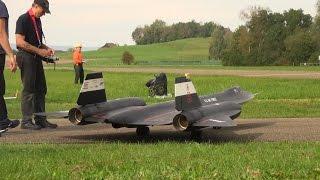 Huge Blackbird SR-71 and the Starfighter F-104S R/C Turbine Model Jet's fly together