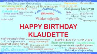 Klaudette   Languages Idiomas - Happy Birthday