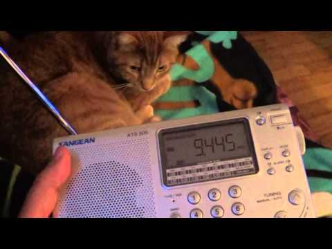 All India radio and DX the cat 9445 Khz Shortwave Sangean ATS 505P