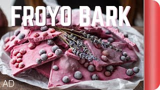 Berry Frozen Yogurt Bark Recipe