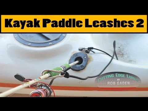 DIY Kayak Paddle/Fishing Rod Leash 2
