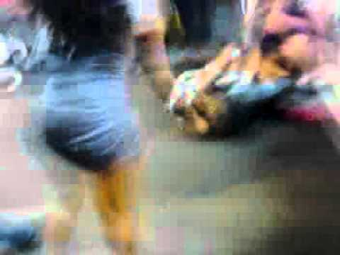 Girl Fight breaks out after A lil Wayne concert. Thongs and ass cheeks show!