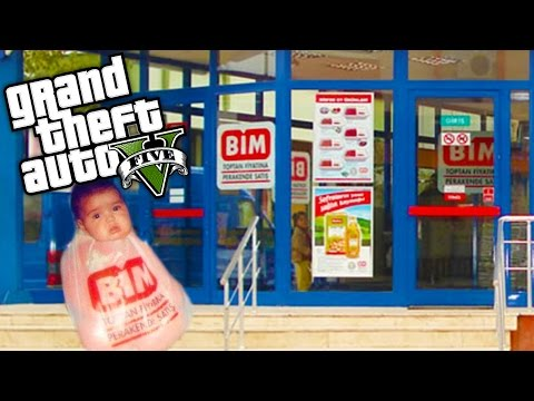 GTA 5 GERÇEK HAYAT !!! - BİM' de Çalışmaya Başladık! #11