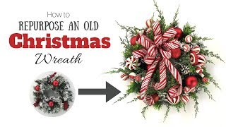 How to Repurpose an Old Christmas Wreath in Less than 30 Minutes