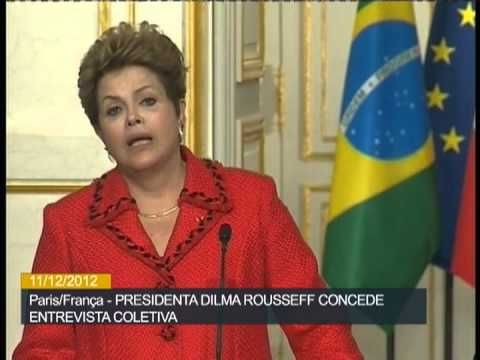 Em coletiva na França, presidenta Dilma diz que políticas de austeridade contra crise têm limites