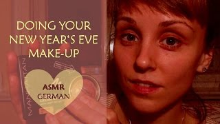 [ASMR]  🎆 🎊 🎉DOING YOUR NEW YEAR'S EVE MAKE-UP | WHISPERED