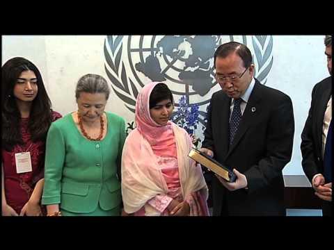 TodaysNetworkNews: MALALA YOUSAFZAI, PAKISTANI SCHOOLGIRL SHOT by TALIBAN MEETS U.N. OFFICIALS