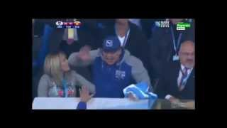 Rugby World Cup. Maradona celebrates all Argentina