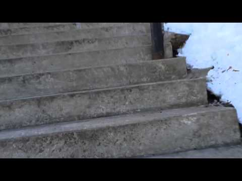 The stairs in Stillwater MN - March 16, 2014
