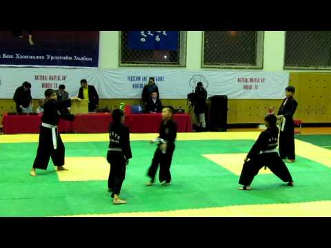 Mongol-Zo Martial Arts kids demo