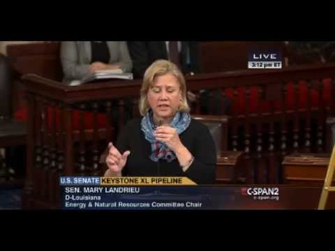 Mary Landrieu suddenly very urgent to see Keystone bill passed