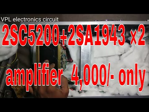 2SC5200+2SA1943 ×2 amplifier made by me odder amplifier  4,000/- only thumbnail