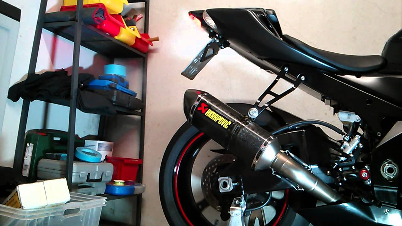 gsx r 1000 k6 akrapovic hexagonal 300mm first soundcheck. Black Bedroom Furniture Sets. Home Design Ideas