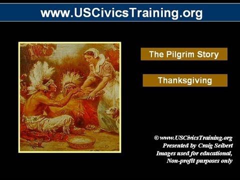 The Pilgrims Story 08 - Thanksgiving - Pilgrims and Indians
