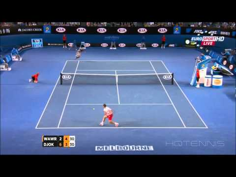 Djokovic vs.  Stanislas Wawrinka HIGHLIGHTS Australian Open 2014 Quarter Final TRUE HD