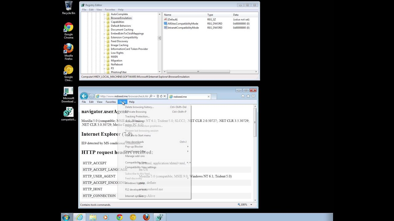 how to change compatibility mode in internet explorer 11
