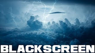 Thunder and Rain Sounds Black Screen for Sleep Relaxation Rest and Meditation Thunderstorm Sound