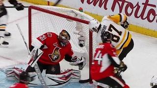 Crosby scores as Penguins even series against Senators