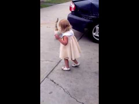 Little Girl Kicks Kitty! video